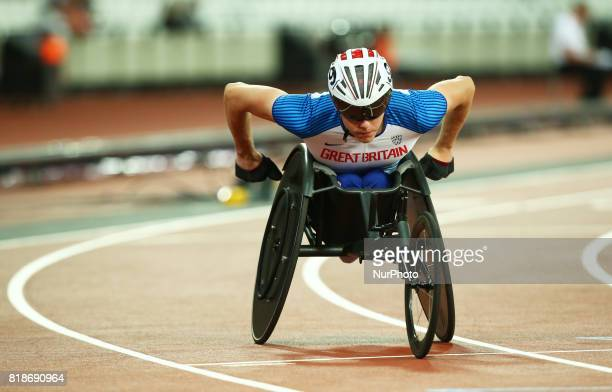 Nathan Maguire of Great Britain compete Men's 200m T54 Final during IPC World Para Athletics Championships at London Stadium in London on July 18 2017