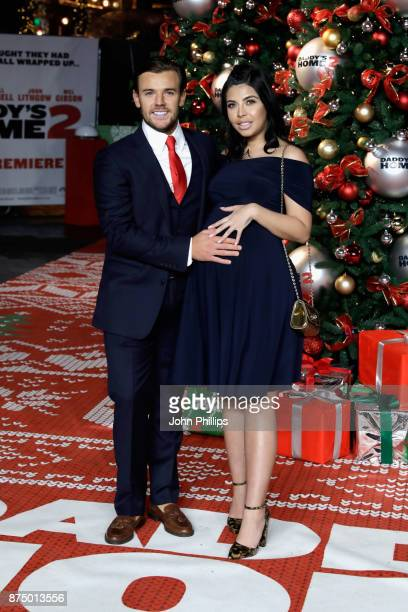 Nathan Massey and Cara De La Hoyde arrive at the UK Premiere of 'Daddy's Home 2' at Vue West End on November 16 2017 in London England