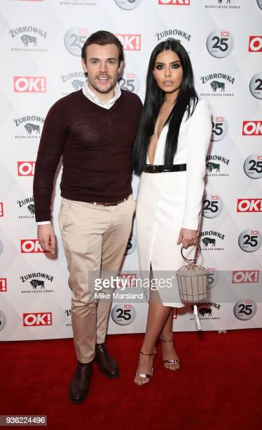 Nathan Massey and Cara de la Hoyde attend OK Magazine's 25th Anniversary Party at The View from The Shard on March 21 2018 in London England