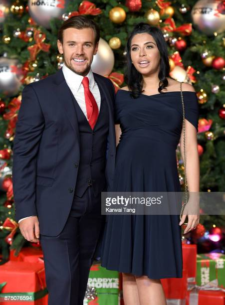 Nathan Massey and Cara De La Hoyde attend the UK Premiere of 'Daddy's Home 2' at Vue West End on November 16 2017 in London England