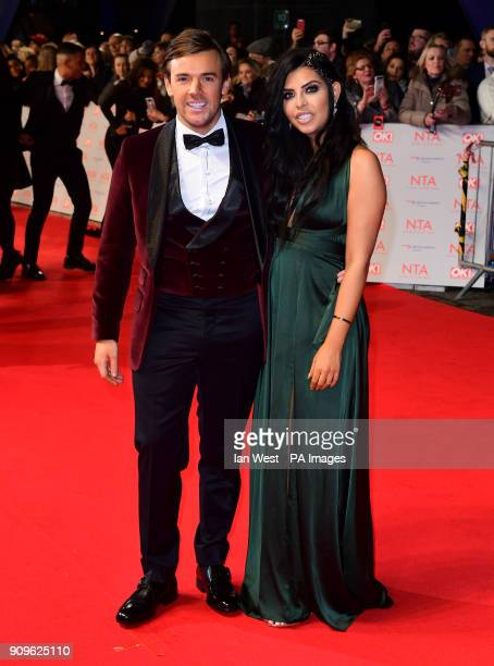 Nathan Massey and Cara De La Hoyde attending the National Television Awards 2018 held at the O2 Arena London PRESS ASSOCIATION Photo Picture date...