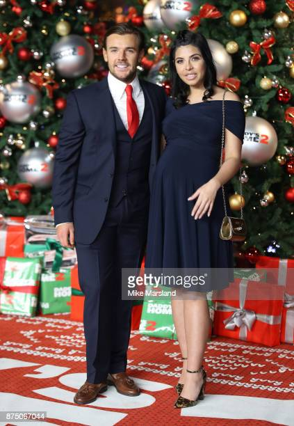 Nathan Massey and Cara de la Hoyde attends the UK Premiere of 'Daddy's Home 2' at Vue West End on November 16 2017 in London England