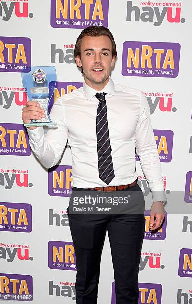Nathan Massey attends the hayu National Reality TV Awards at Porchester Hall on September 29 2016 in London England