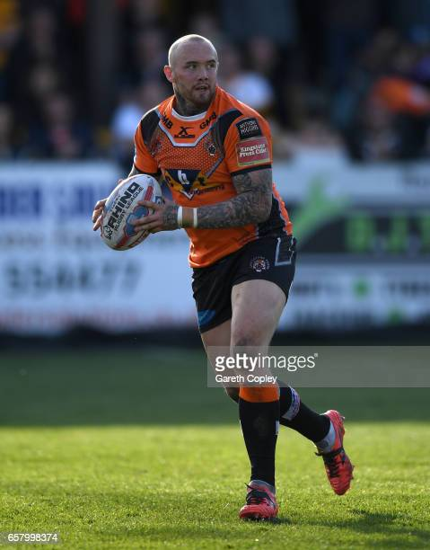 Nathan Massey of Castleford during the Betfred Super League match between Castleford Tigers and Catalans Dragons at Wheldon Road on March 26 2017 in...