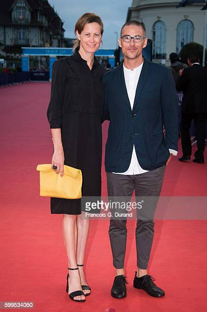 """Nathan Morlando and Canadian producer Allison Black attend the """"In Dubious Battle"""" Premiere during the 42nd Deauville American Film Festival on..."""