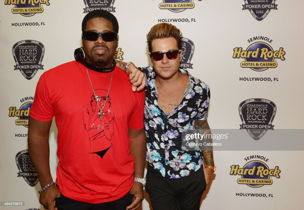 Nathan Morris and Ryan Cabrera attend the Hollywood Charity Series Of Poker Supported By PokerStars To Benefit Habitat For Humanity at Seminole Hard Rock Hotel & Casino & Hard Rock Cafe Hollywood on August 27, 2014 in Hollywood, Florida.