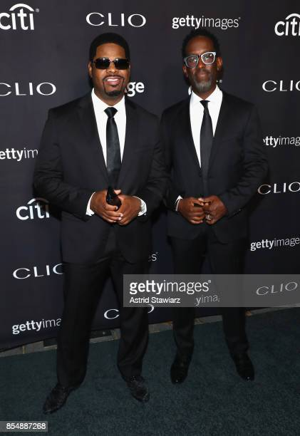 Nathan Morris and Sean Stockman of 'Boys to Men' attend the 2017 Clio Awards at Lincoln Center on September 27 2017 in New York City