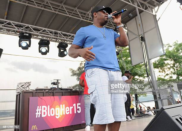 Nathan Morris of Boyz II Men performs at the McDonald's Presents The #BlogHer15 Closing Party on July 18 2015 in New York City
