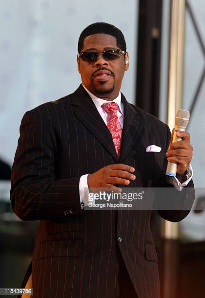 Nathan Morris of Boyz II Men performs on ABC's 'Good Morning America' on June 20 2008 at Bryant Park in New York