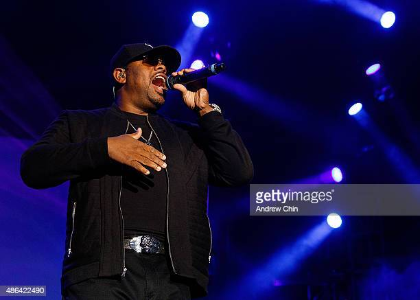 Nathan Morris of Boyz II Men performs onstage during PNE Summer Night Concerts 2015 at PNE Amphitheatre on September 3 2015 in Vancouver Canada