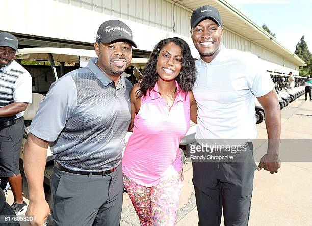 Nathan Morris Omarosa Manigualt and Flex Alexander attend LA Clippers Foundation Charity Golf Classic on October 24 2016 in Pacific Palisades...