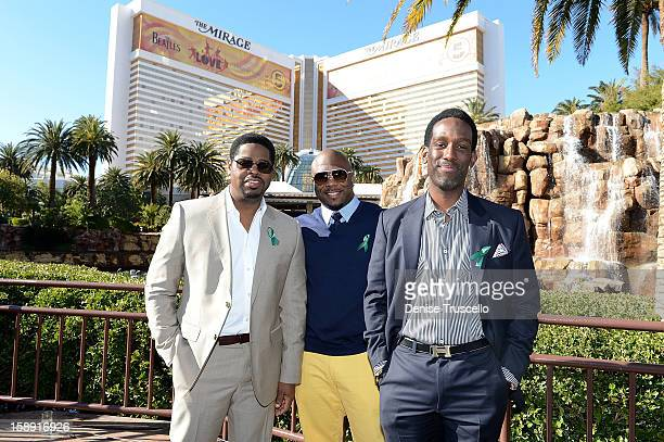 Nathan Morris, Wayna Morris and Shawn Stockman of Boyz II Men announce their residency at The Mirage Hotel and Casino on January 3, 2013 in Las...