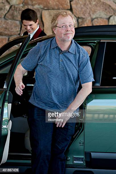 Nathan Myhrvold chief executive officer of Intellectual Ventures Mgmt LLC and former chief technology officer at Microsoft Corp arrives at the Sun...