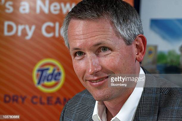 Nathan 'Nate' Estruth vice president of Procter Gamble Co's FutureWorks unit speaks about the Tide Dry Cleaners franchise at the company's...