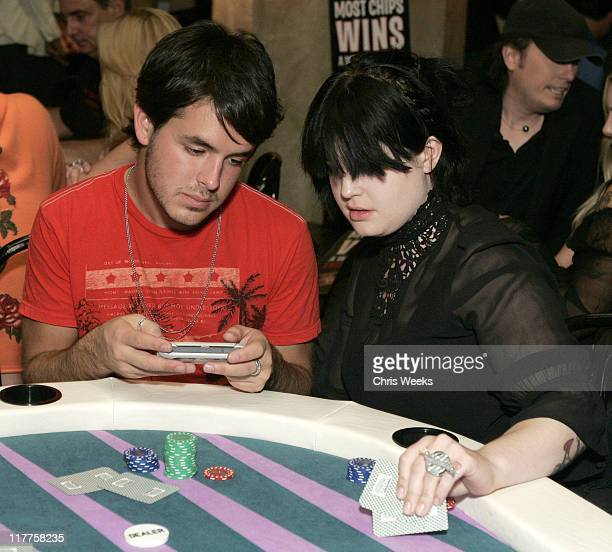 Nathan Newell and Kelly Osbourne during 2005 Stuff Style Awards Inside at Hollywood Roosevelt Hotel in Los Angeles California United States