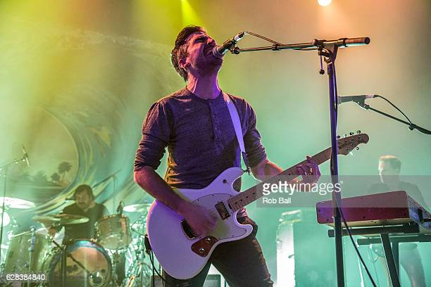 Nathan Nicholson from The Boxer Rebellion perform at O2 Shephards Bush Empire on December 7 2016 in London England