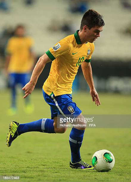 Nathan of Brazil in action during the FIFA U17 World Cup UAE 2013 Group A match between United Arab Emirates and Brazil at the Mohamed Bin Zayed...