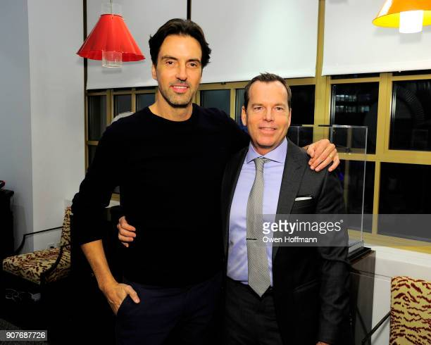 Nathan Orsman and Scott Currie attend Richard Mishaan Design 25th Anniversary Party at Richard Mishaan Design Studio on January 17 2018 in New York...
