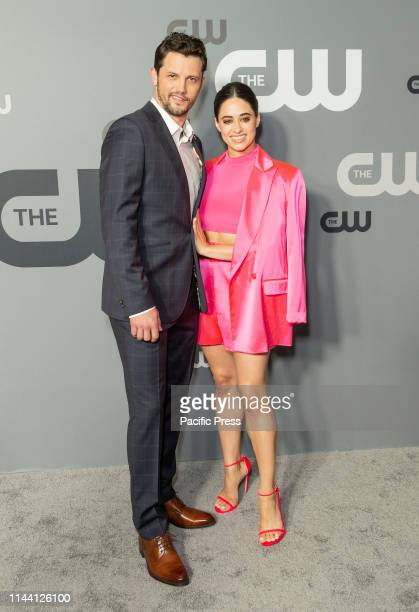 Nathan Parsons and Jeanine Mason attend CW Network Upfront at New York City Center