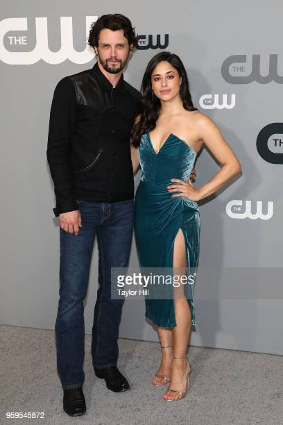 Nathan Parsons and Jeanine Mason attend the 2018 CW Network Upfront at The London Hotel on May 17 2018 in New York City