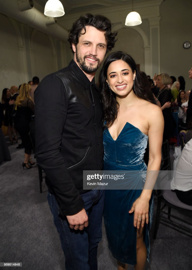 Nathan Parsons and Jeanine Mason attend The CW Network's 2018 upfront at The London Hotel on May 17, 2018 in New York City.