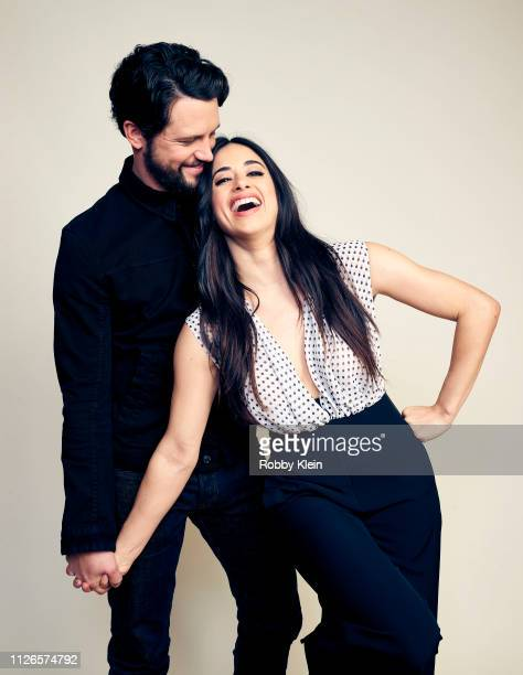 Nathan Parsons and Jeanine Mason of The CW's 'Roswell New Mexico' pose for a portrait during the 2019 Winter TCA at The Langham Huntington Pasadena...