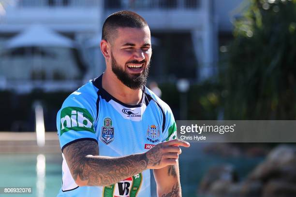 Nathan Peats during the New South Wales Blues State of Origin media opportunity at Salt Beach on July 4 2017 in Kingscliff Australia