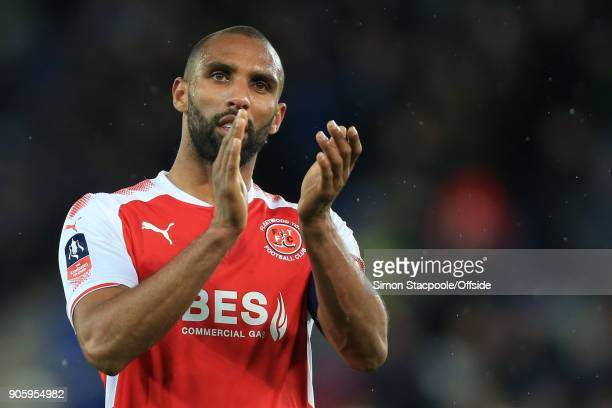 Nathan Pond of Fleetwood applauds the support after The Emirates FA Cup Third Round Replay match between Leicester City and Fleetwood Town at the...