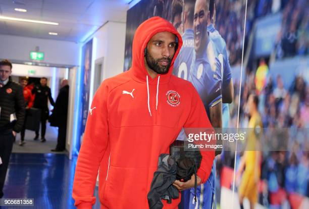 Nathan Pond of Fleetwood Town arrives at King Power Stadium ahead of The Emirates FA Cup Third Round Replay between Leicester City and Fleetwood Town...