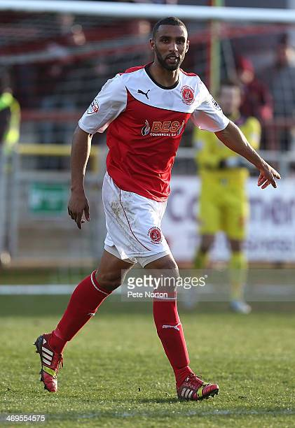 Nathan Pond of Fleetwood Town in action during the Sky Bet League Two match between Fleetwood Town and Northampton Town at Highbury Stadium on...
