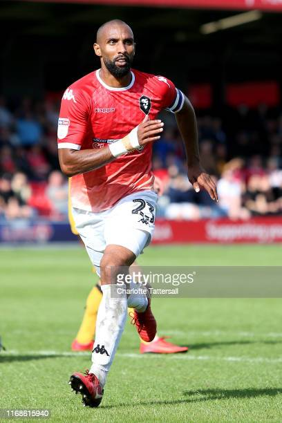 Nathan Pond of Salford City in action during the Sky Bet League Two match between Salford City and Port Vale at Moor Lane on August 17 2019 in...
