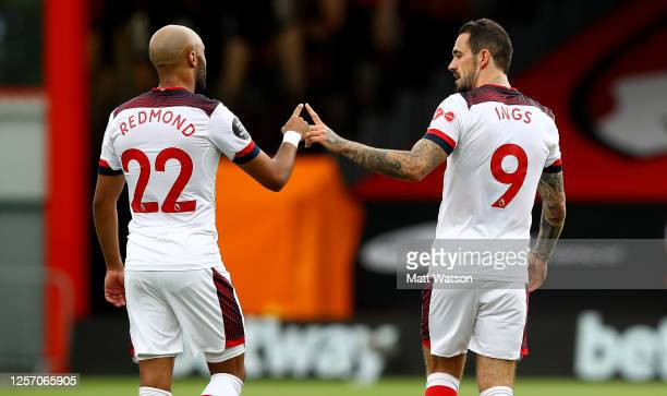 Nathan Redmond and Danny Ings of Southampton during the Premier League match between AFC Bournemouth and Southampton FC at Vitality Stadium on July...