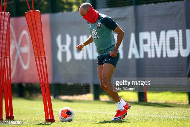 Nathan Redmond as Southampton FC players return to training following Covid19 restrictions being relaxed at the Staplewood Campus on May 19 2020 in...