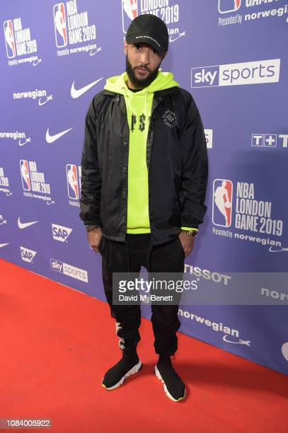 Nathan Redmond attends the NBA London Game 2019 between the Washington Wizards and New York Knicks at The O2 Arena on January 17 2019 in London...