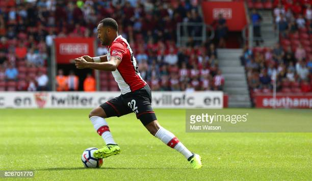 Nathan Redmond during the preseason friendly between Southampton FC and Sevilla at St Mary's Stadium on August 5 2017 in Southampton England