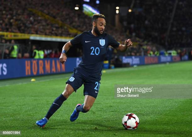 Nathan Redmond of England in action during the international friendly match between Germany and England at Signal Iduna Park on March 22 2017 in...