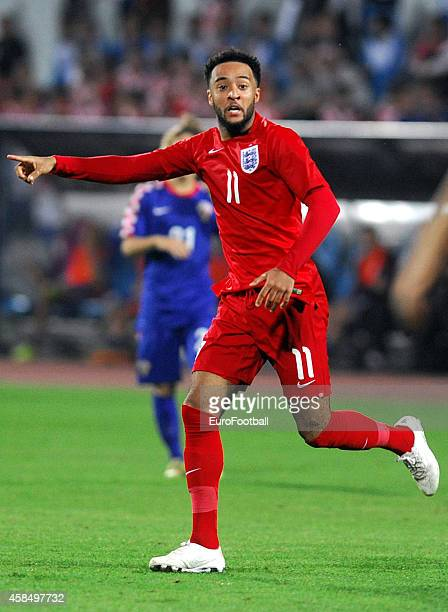 Nathan Redmond of England in action during the UEFA U21 Championship Playoff Second Leg match between Croatia and England at the Stadion Hnk Cibalia...