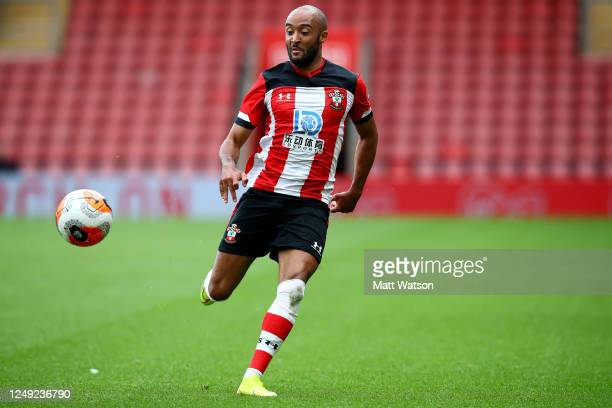 Nathan Redmond of Southampton during a friendly match between Southampton FC and Bristol City ahead of the Premier League restart at St Mary's...