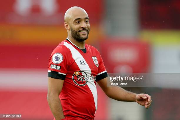 Nathan Redmond of Southampton during the Premier League match between Southampton and Everton at St Mary's Stadium on October 25 2020 in Southampton...