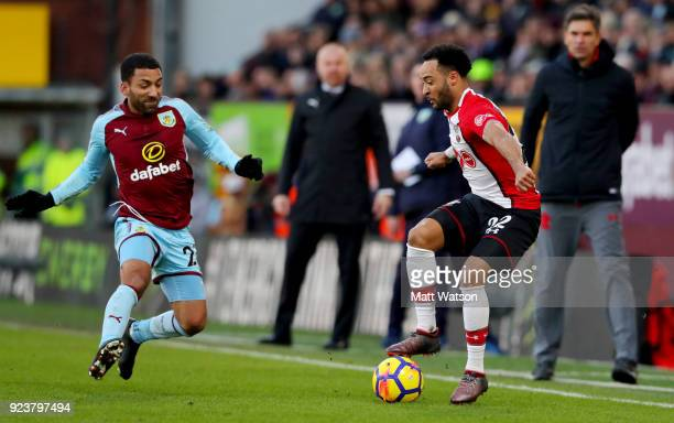 Nathan Redmond of Southampton during the Premier League match between Burnley and Southampton at Turf Moor on February 24 2018 in Burnley England