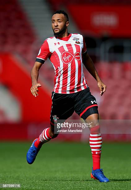 Nathan Redmond of Southampton during the preseason friendly between Southampton and Athletic Club Bilbao at St Mary's Stadium on August 7 2016 in...