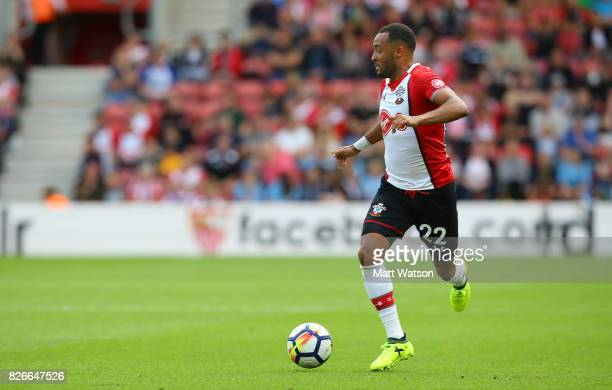 Nathan Redmond of Southampton during the preseason friendly between Southampton FC and Sevilla at St Mary's Stadium on August 5 2017 in Southampton...