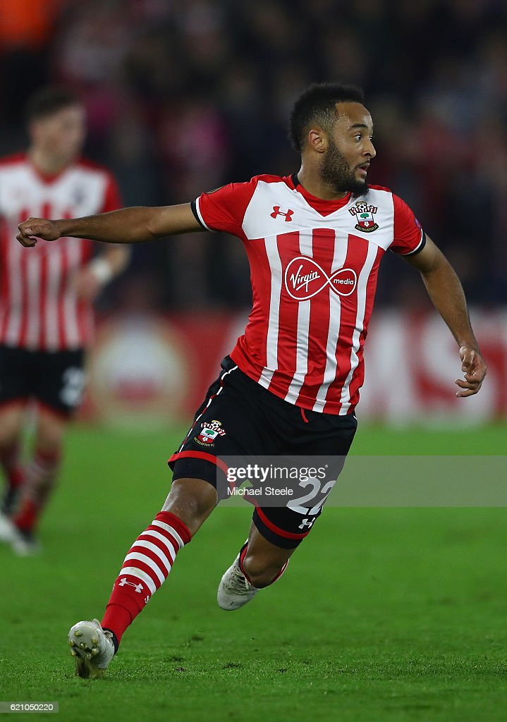Nathan Redmond of Southampton during the UEFA Europa League match between Southampton FC and FC Internazionale Milano at St Mary's Stadium on November 3, 2016 in Southampton, England.