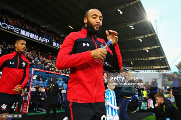Nathan Redmond of Southampton FC walks out before the Premier League match between Huddersfield Town and Southampton FC at John Smith's Stadium on...