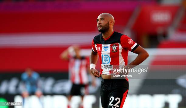 Nathan Redmond of Southampton frustrated during the Premier League match between Southampton FC and Arsenal FC at St Mary's Stadium on June 25 2020...