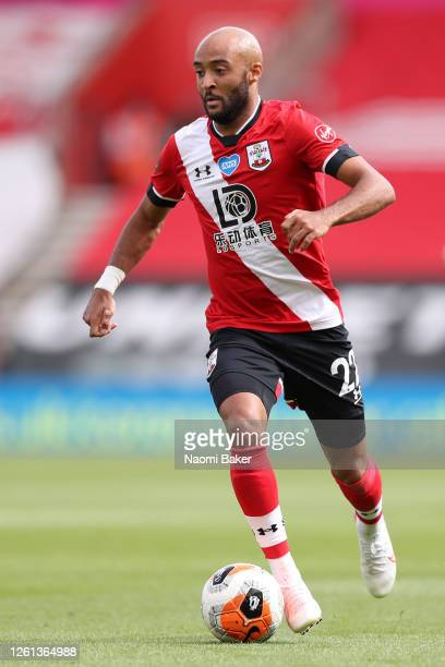 Nathan Redmond of Southampton in action during the Premier League match between Southampton FC and Sheffield United at St Mary's Stadium on July 26...