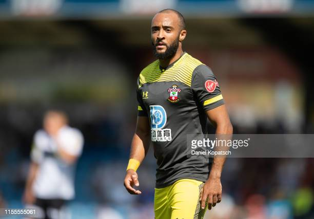 Nathan Redmond of Southampton reacts during the friendly match between SCR Altach and FC Southampton at Cashpoint Arena on July 14, 2019 in Altach,...