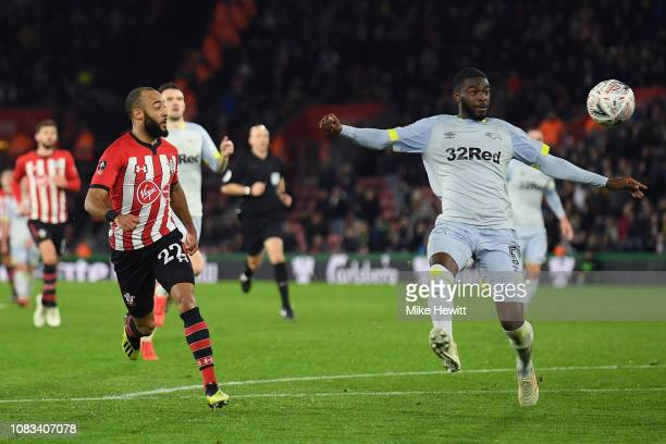 Nathan Redmond of Southampton scores their second goal during the FA Cup Third Round Replay match between Southampton FC and Derby County at St...