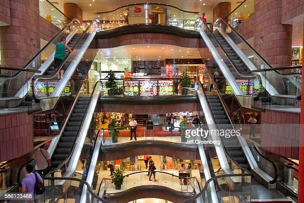 Nathan Road shopping center escalators