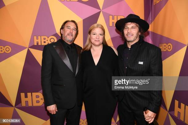Nathan Ross Bruna Papandrea and Gregg Fienberg of 'Big Little Lies' attend HBO's Official Golden Globe Awards After Party at Circa 55 Restaurant on...